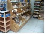 Дървен стелаж за хляб и хлебни изделия