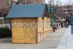 изработване на дървен павилион за продажба  до 6кв.м