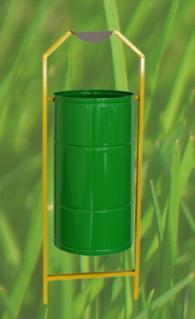 Метален съд за смет с размери 320х560мм