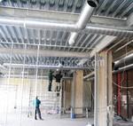 la construcción del sistema de ventilación