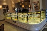 Стъклена хладилна витрина за торти по поръчка
